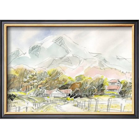 Ranch in Plateau, Scenery of Spring Framed Art Print Wall Art By ...