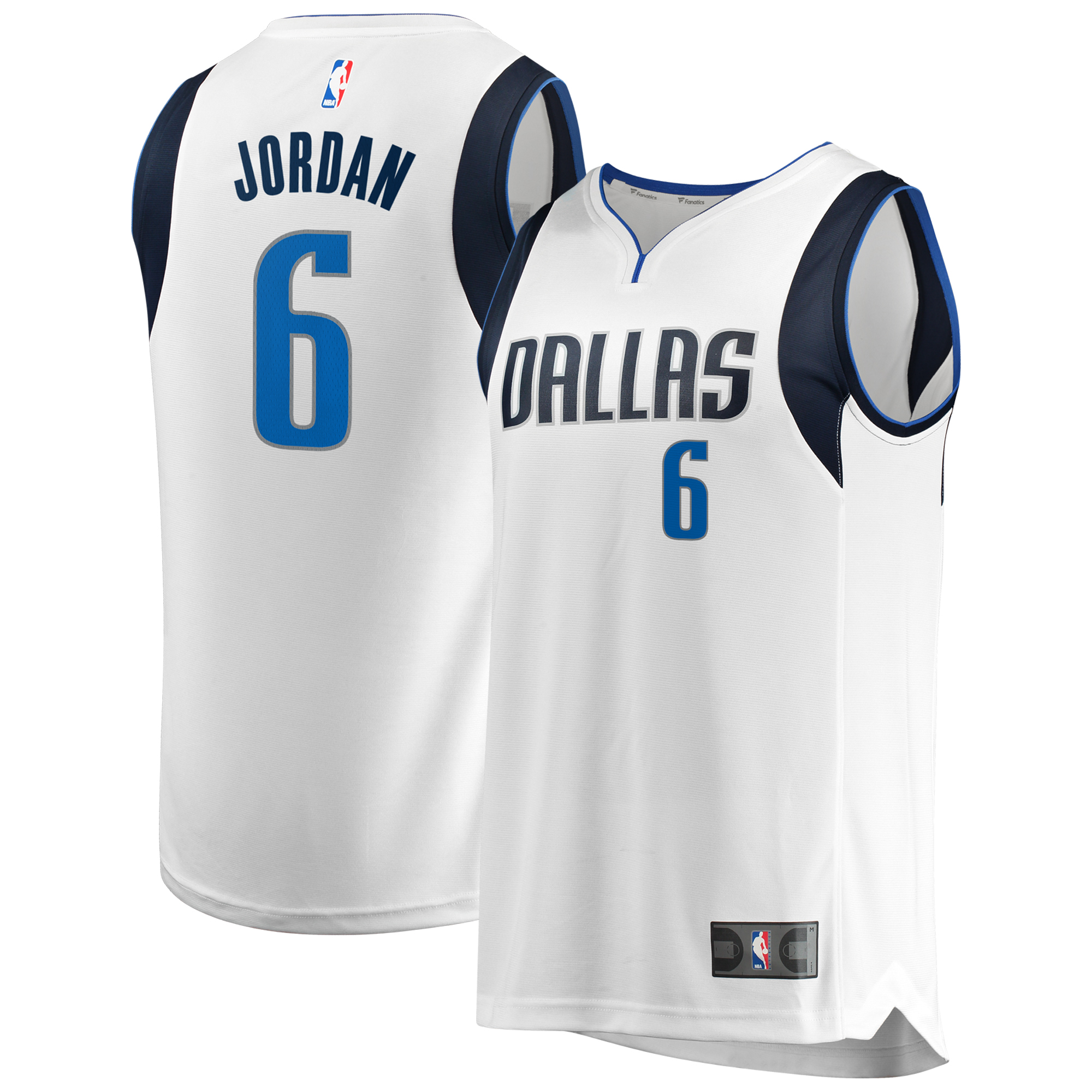 DeAndre Jordan Dallas Mavericks Fanatics Branded Fast Break Replica Jersey - Association Edition - White