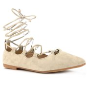 Pointed Toe D'orsay Ballet Flats Ankle Strap Flat Shoes #19222