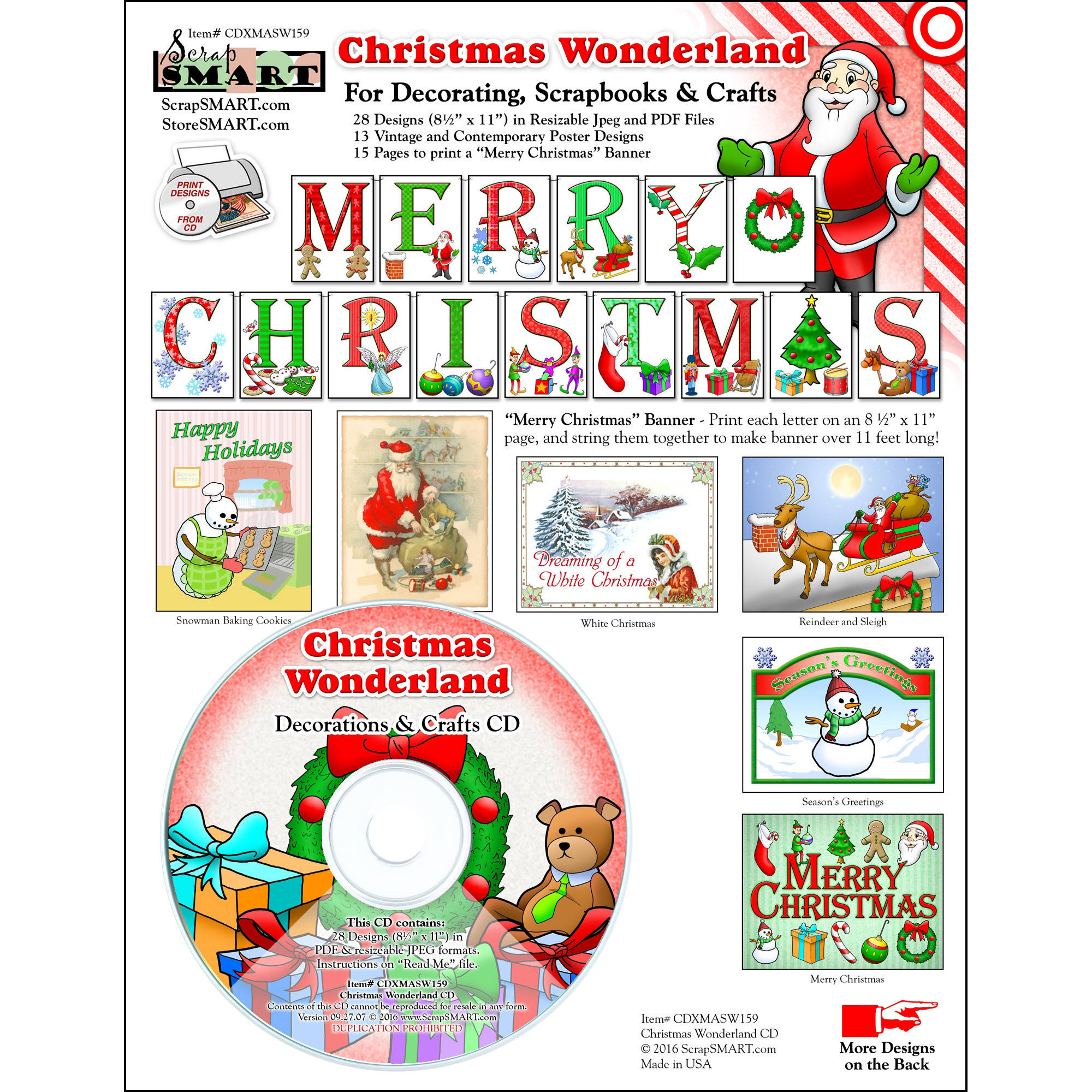 ScrapSMART Christmas Wonderland CD-ROM: Decorations and Crafts