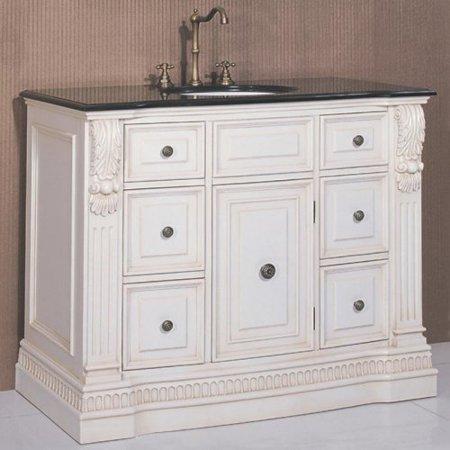 legion furniture washington 43 in antique white single bathroom