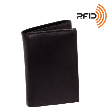 Ross Michaels Mens Top Grain Cowhide Leather Rfid Trifold Billfold Wallet