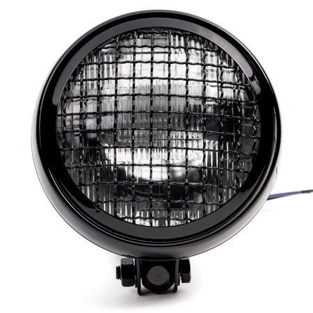 """Krator 6"""" Black Motorcycle Headlight w/ Mesh Grill High Low Beam Headlamp Bottom Mount for Victory Cross Country - image 5 of 7"""