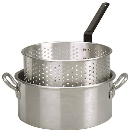 10 Qt Aluminum Fry Pot (King Kooker #KK2 - Aluminum Fry Pan with Two Handles - 10)