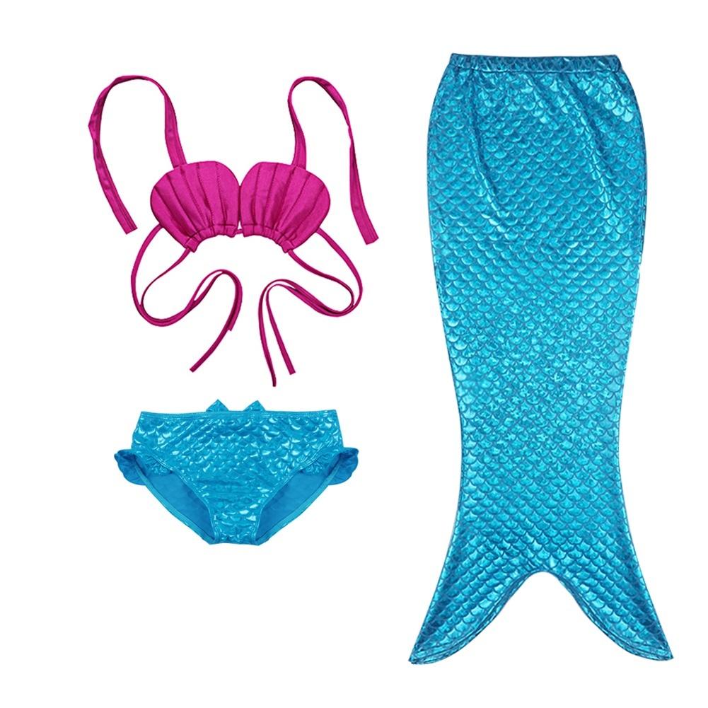 US Kids Girls Swimwear Mermaid Outfits Halter Top+Bottom Bathing Suits Beachwear