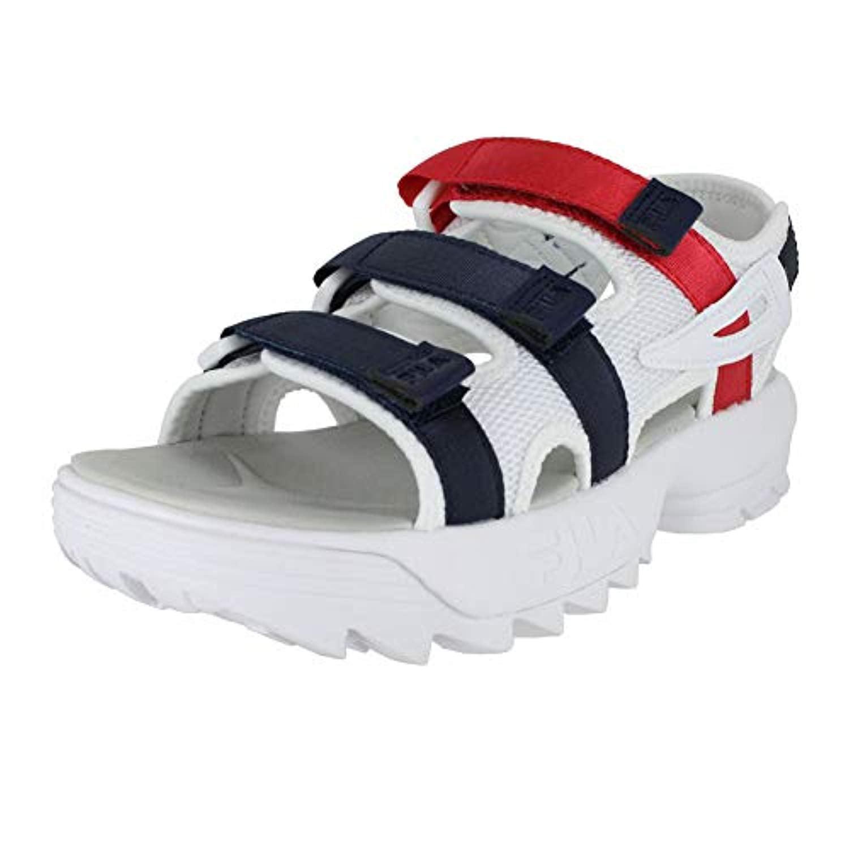 white fila sandals