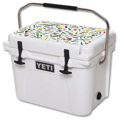 Skin For YETI Roadie 20 qt Cooler Lid – Bright Lures | MightySkins Protective, Durable, and Unique Vinyl Decal wrap cover | Easy To Apply, Remove, and Change Styles | Made in the USA