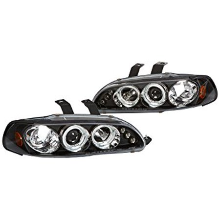 Spec-D Tuning 2LHP-CV923JM-TM Honda Civic 3Dr Dual Halo Led Black Projector Head Lights