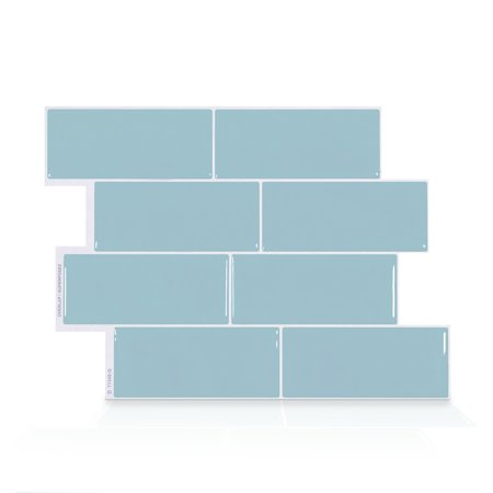 Boxes Porcelain Mosaic Tiles - Smart Tiles 11.56 in x 8.38 in Peel and Stick Self-Adhesive Mosaic Backsplash Wall Tile - Metro Babe (each)