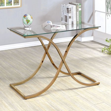 Masterpiece Curved Console (Furniture of America Karis Curved Leg Base Sofa Table )