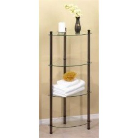 Creative Bath 20103 Orb 4 Shelf Corner Tower Oil Rubbed Bronze