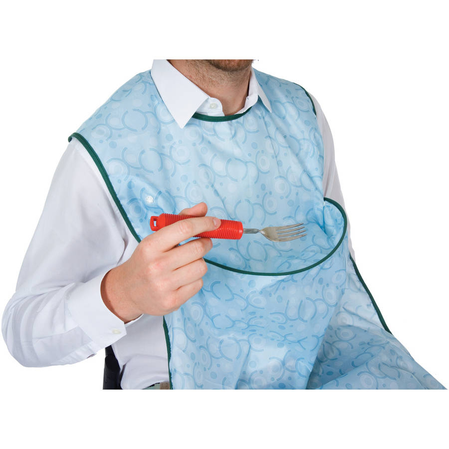Essential Medical Supply 3 Position Crumb Catcher Clothing Protector