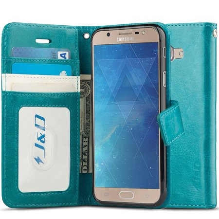 new style 57a13 765c7 Galaxy J7 Max Case, J&D [RFID Blocking Wallet] [Slim Fit] Heavy Duty  Protective Shock Resistant Flip Cover Wallet Case for Samsung Galaxy J7 Max  - ...