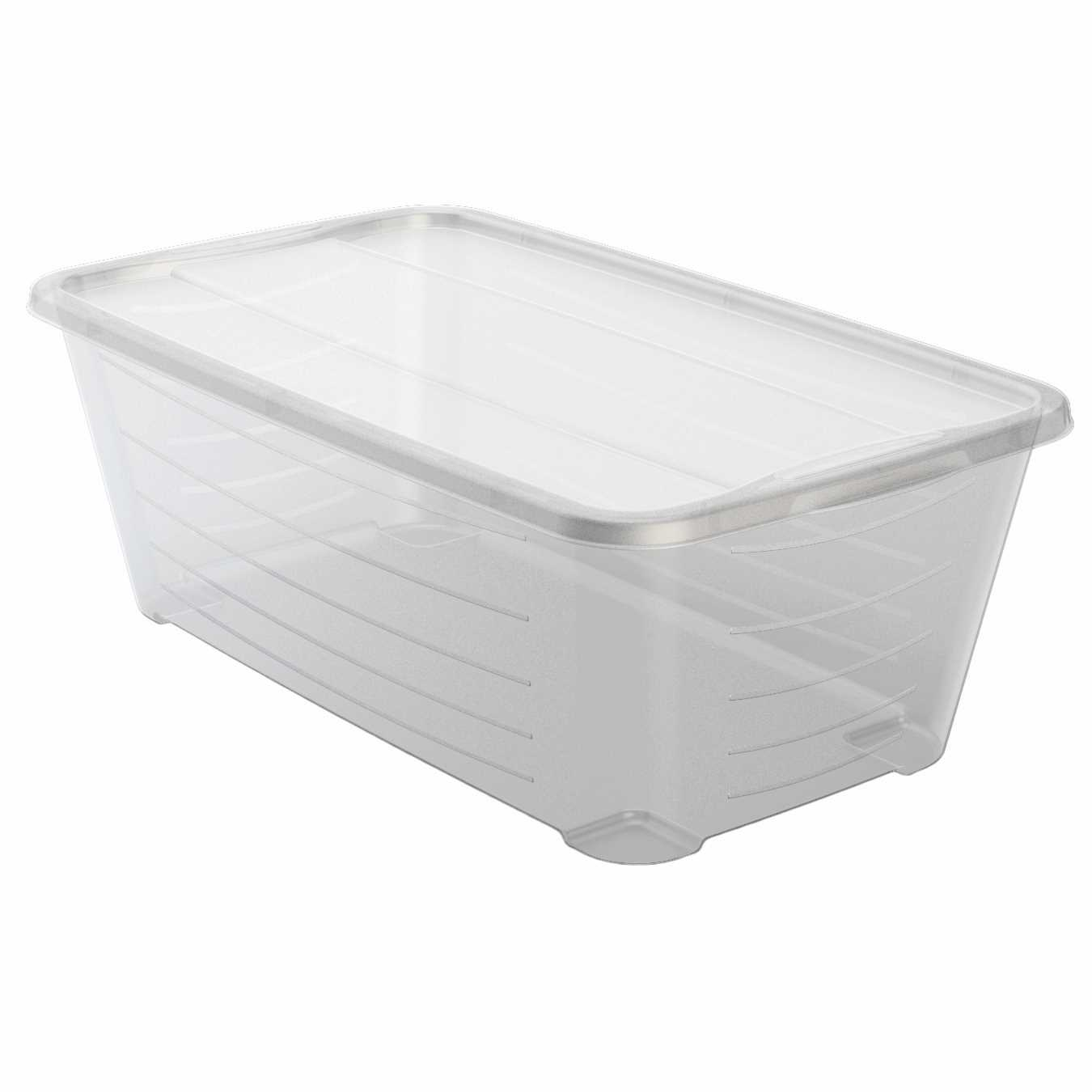 Life Story 6 Quart Rectangular Clear Plastic Storage Shoe Box, (48 Pack)
