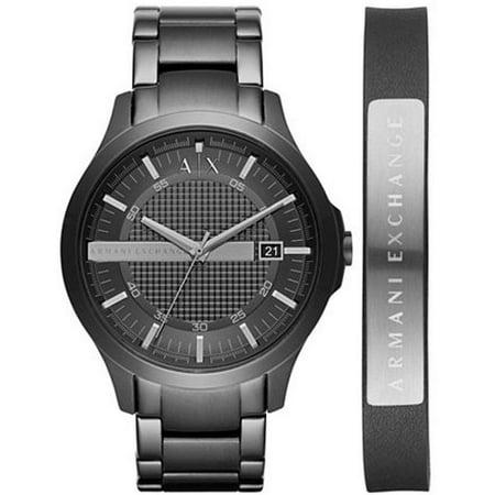 Armani Exchange - Men s Armani Exchange Black Steel Watch Set AX7101 -  Walmart.com f6e0d81881