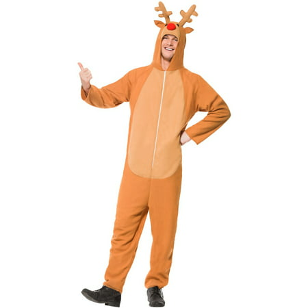 Red Nosed Reindeer Adult Costume](Reindeer Baby Costume)