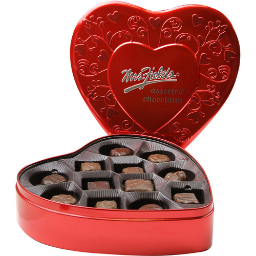 Mrs Fields Assorted Valentine Candy Chocolates In A Heart Shaped