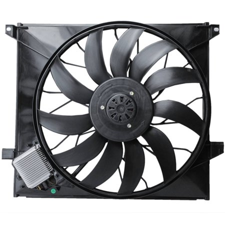 TOPAZ 1635000293 Radiator Cooling Fan Assembly for Mercedes W163 ML55 AMG 00-03 ML500 02-05