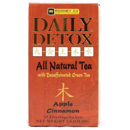 Wellements Rooney CV Daily Detox All Natural Decaffeinated Tea Apple Cinnamon 30 Sachet