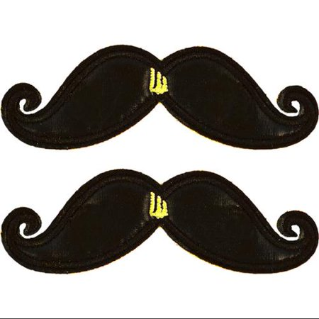 Shwings Shoe Accessories: Black Foil Mustache Clip