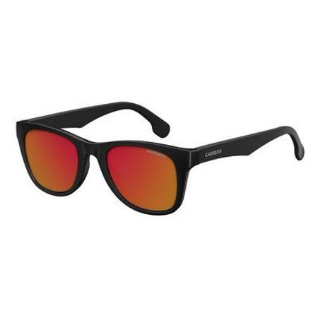 Carrera Men's Ca5038s Wayfarer Sunglasses, Black Metalized/Red Mirror, 51 mm