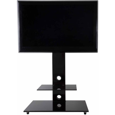"AVF Lesina Black Floor Stand with Mount for TVs 32-55"" by"
