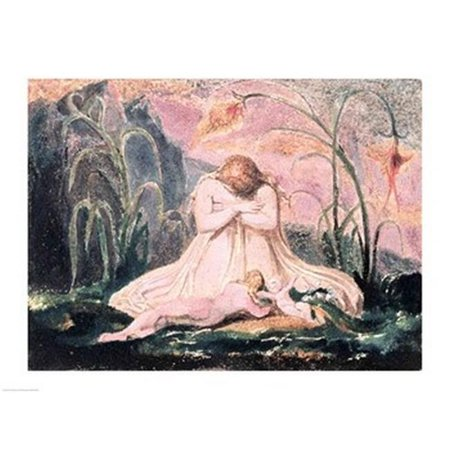 Book of Thel - Thel Leaning Over The Matron Clay & The Worm 1789 Poster Print by William Blake - 36 x 24 in. - Large - image 1 of 1
