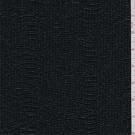 Black Patent Crinkled Novelty Knit, Fabric Sold By the Yard (Black Crinkle Paper)