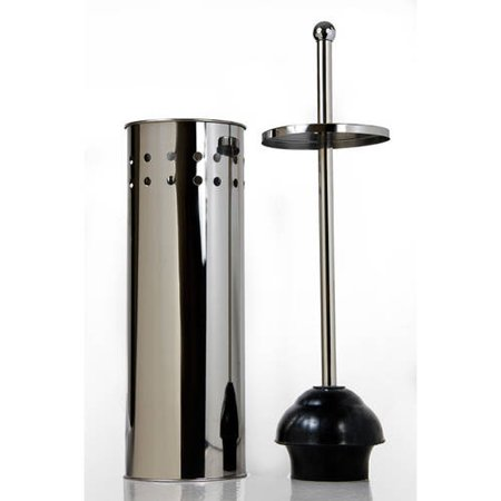 Tall Toilet Bowl Plunger with Lid ()