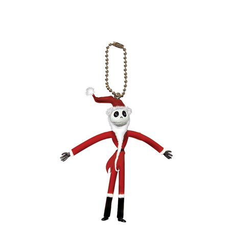 PVC Figural Key Chain - Disney - NBC - Jack Santa PVC Bendable New 22648