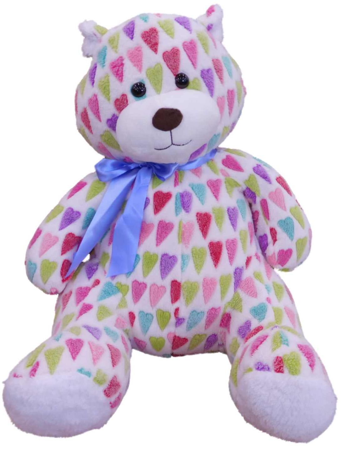 "Sweet Sprouts Colorful Hearts Love Teddy Bear Stuffed Animal 21"" Plush Giant Pal by Sweet Sprouts"