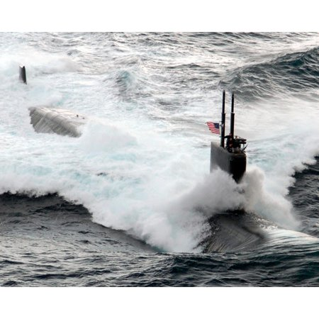 The Los Angeles-class fast attack submarine USS Asheville Poster Print by  Stocktrek Images