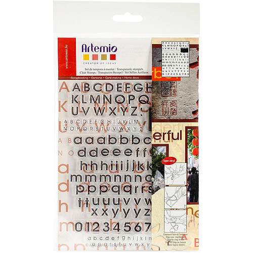 "Artemio Clear Stamps, 5.9"" x 8.7"", Alphabet"