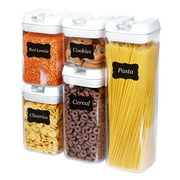 Mercier Kitchen 5 Piece Airtight Food Storage Containers (Canisters) with Easy Lock