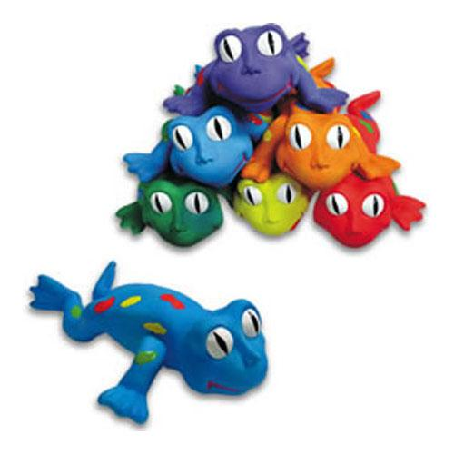 Color My Class Rubber Critters- Frogs Set of 6