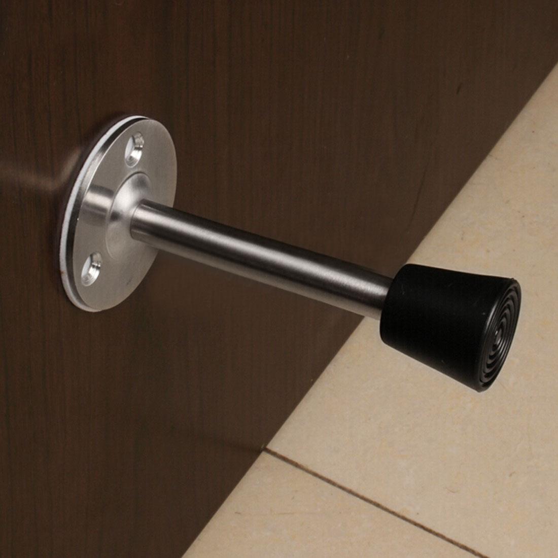 46mm Diamètre 200mm Base Hauteur mur monté Doorstop Métal tampon butoir de porte - image 1 de 5