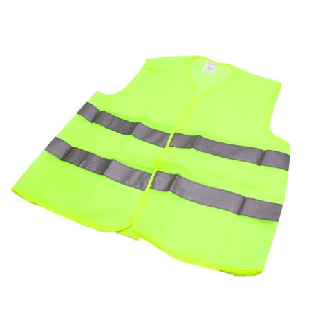 Green Reflective Security Visibility Warning Vest Jacket for Car Motorcycle
