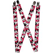 Women's Elastic Disney Mickey & Minnie Mouse Clip End Suspenders