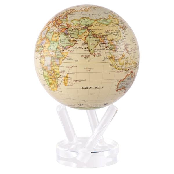 MOVA Antique Beige Revolving Globe 6-inch