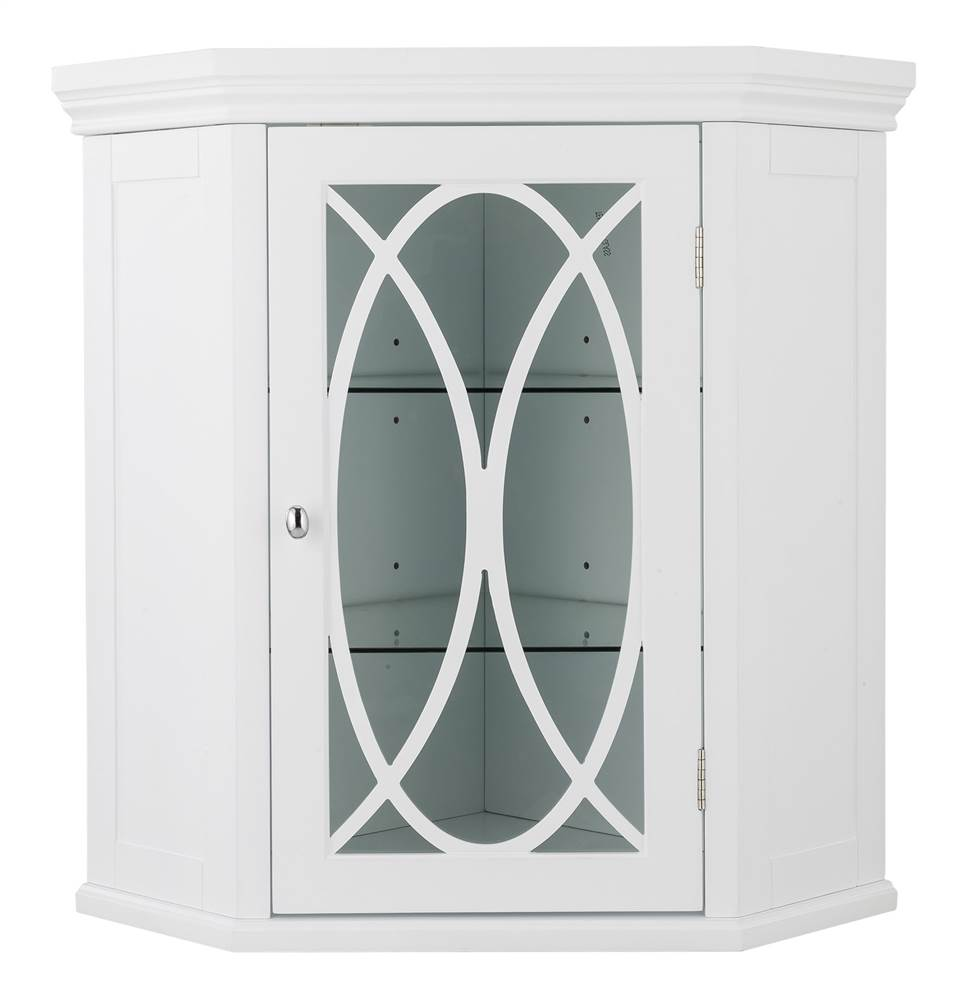 Corner Wall Cabinet in White