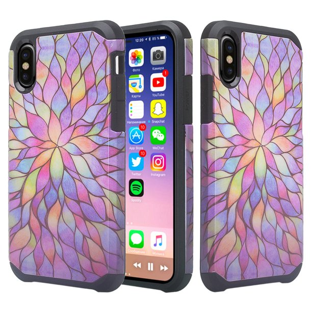 Apple Iphone Xr Case Cover Cute Girls Women Shock Proof Case Iphone Xr Phone Case Rainbow Walmart Com Walmart Com