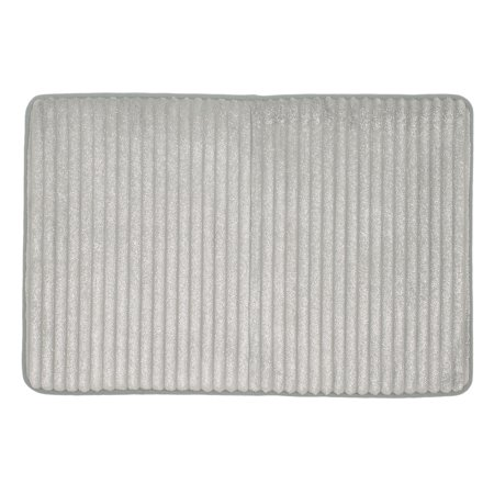 Mohawk Home Memory Foam 18 X 27 Soft Silver Glitter Bath Rug 1 Each