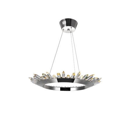 VIVA LIFESTYLE LIGHTING LED Up Chandelier with Polished Nickel Finish - image 2 de 2