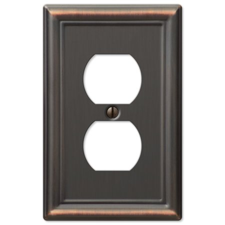 - Single Duplex 1-Gang Decora Wall Switch Plate, Oil Rubbed Bronze