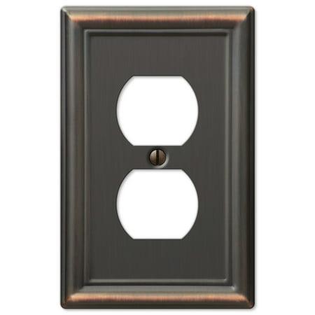 Single Duplex 1-Gang Decora Wall Switch Plate, Oil Rubbed Bronze