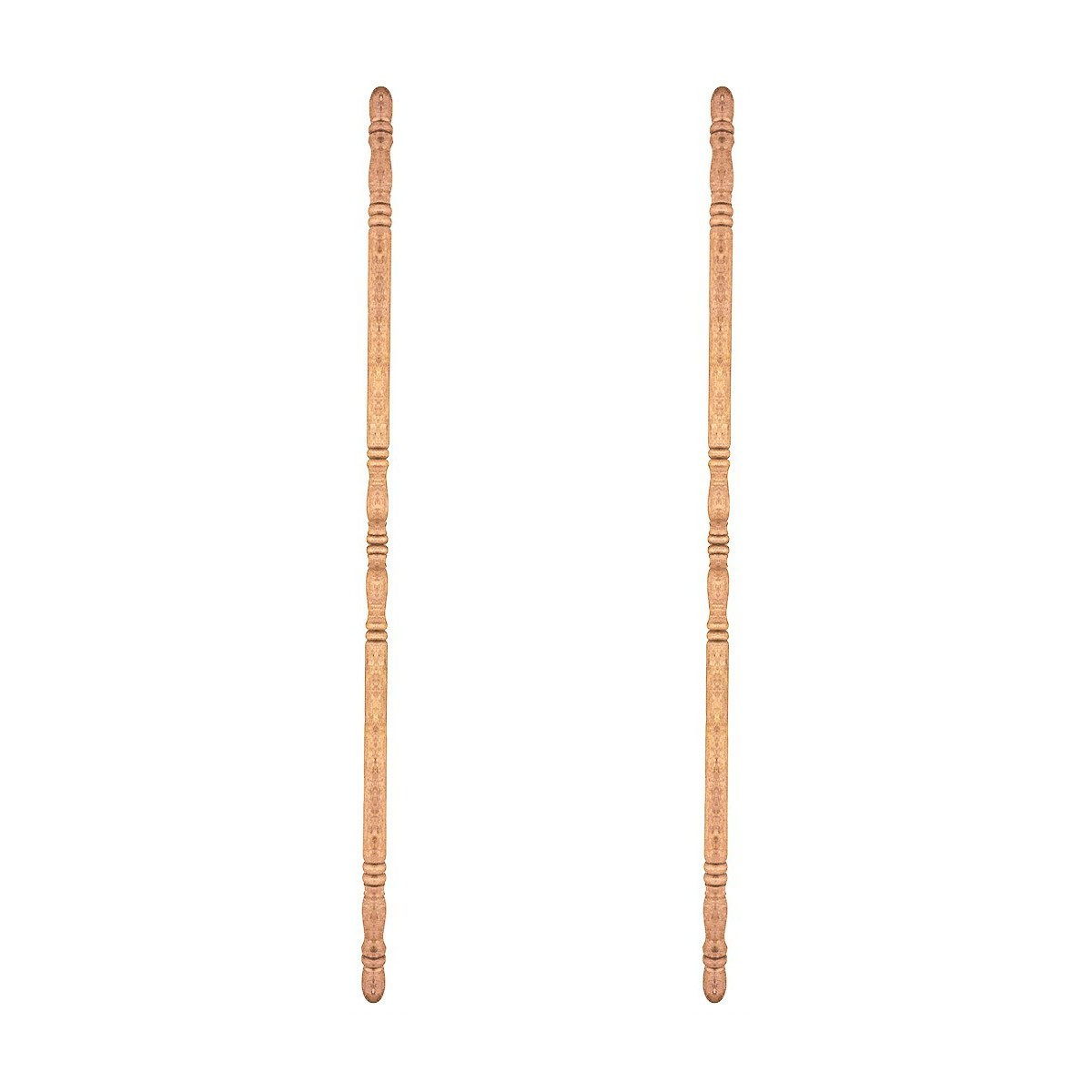 Light Hardwood Corner Guard Unfinished 1 in Diameter Pack of 2 by The Renovator%27s Supply