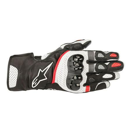 - Alpinestars SP-2 v2 Leather Gloves Black/White/Red