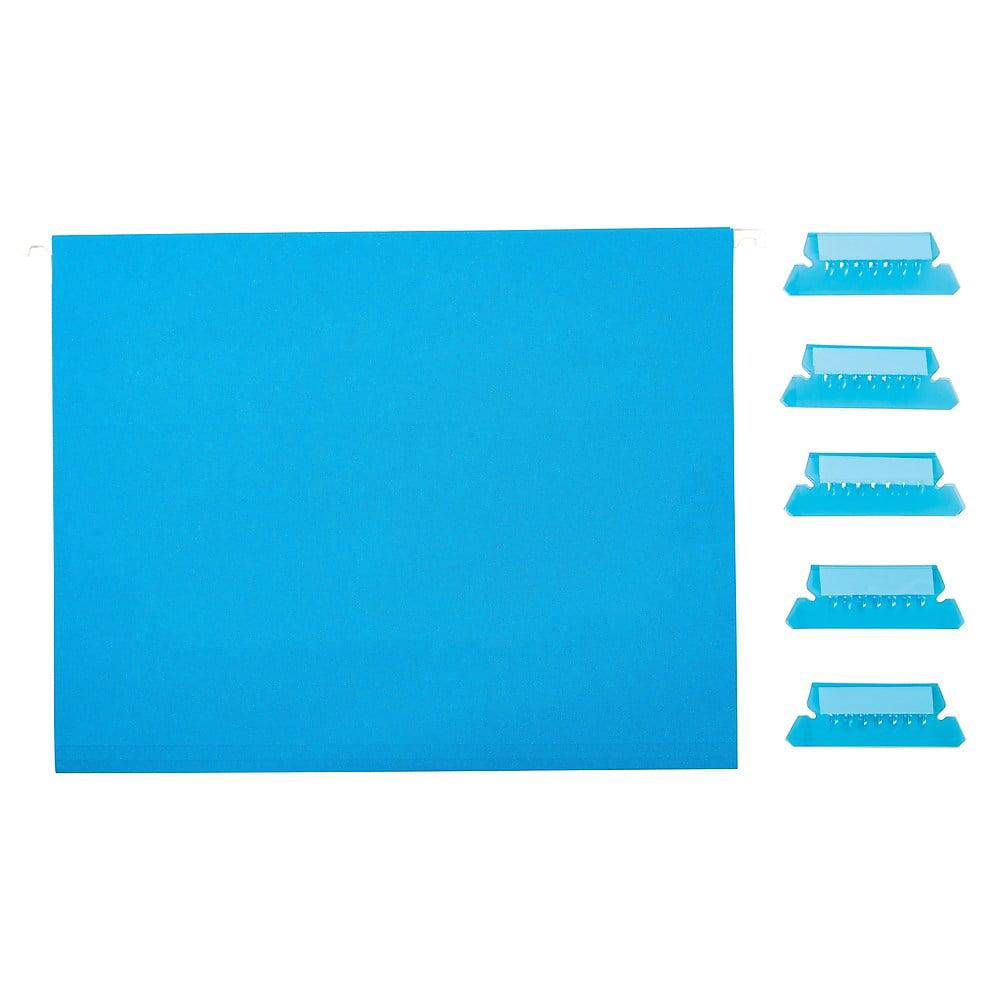 163972 Staples Hanging File Folders 5-Tab Legal Size Green 25//Box