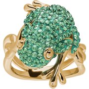 Luminesse Frog Ring Made With Swarovski