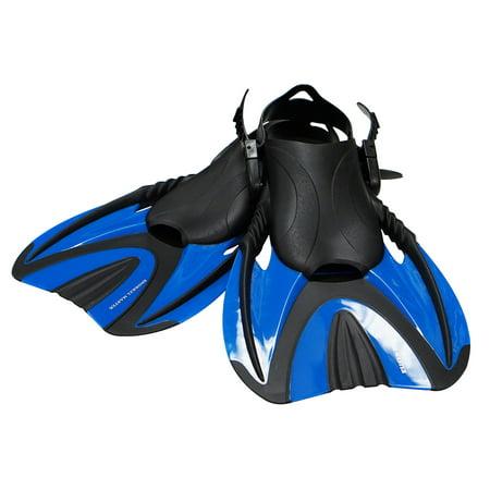 Snorkel Master Adult Blue Swimming Snorkeling Fins,